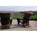 Cozi Chaise Style Adirondack  (Bras Noir)